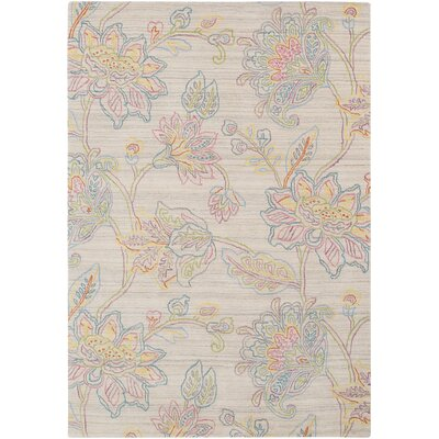 Arata Floral Hand Tufted Wool Light Cream Area Rug Rug Size: Rectangle 2 x 3