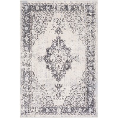 Chamberlain Dark Brown Area Rug Rug Size: Rectangle 53 x 76