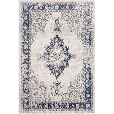 Chamberlain Navy/Teal Area Rug Rug Size: Rectangle 710 x 103