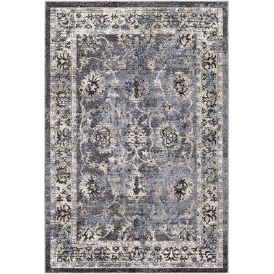 Chamberlain Medium Gray/Cream Area Rug Rug Size: Rectangle 53 x 76