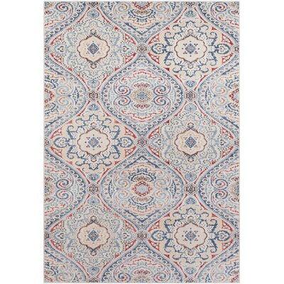 Siesta Key Traditional Hand Woven Sky Blue/Gray Area Rug Rug Size: Rectangle 53 x 76