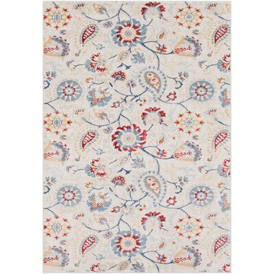 Siesta Key Khaki/Rust Area Rug Rug Size: Rectangle 53 x 76