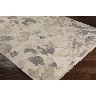 Darrin Transitional Floral Hand Knotted Wool Camel Area Rug Rug Size: 6 x 9