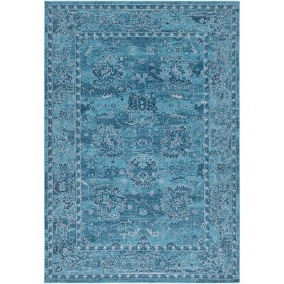 Riverbend Vintage Teal Area Rug Rug Size: Rectangle 53 x 76