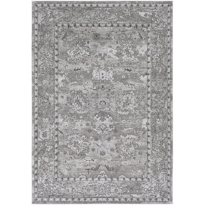 Riverbend Traditional Floral Gray/Charcoal Area Rug Rug Size: Rectangle 2 x 3