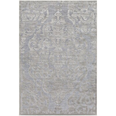 Quimir Transitional Silver/Gray Area Rug Rug Size: Rectangle 53 x 76