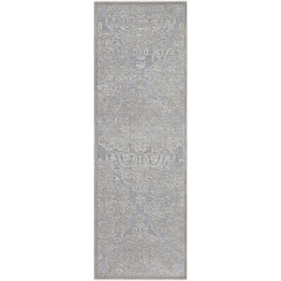 Quimir Transitional Silver/Gray Area Rug Rug Size: Runner 27 x 76