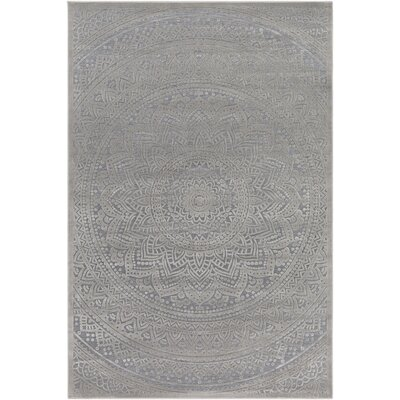 Quimir Transitional Dark Gray/Silver Area Rug Rug Size: Rectangle 2 x 3