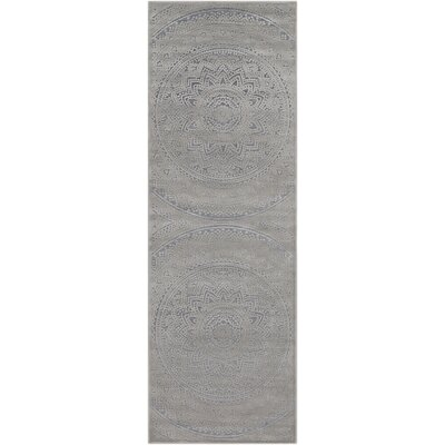 Quimir Transitional Dark Gray/Silver Area Rug Rug Size: Runner 27 x 76