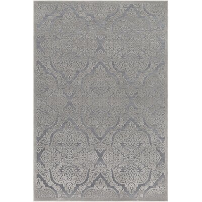 Quimir Transitional Silver/Dark Gray Area Rug Rug Size: Rectangle 53 x 76