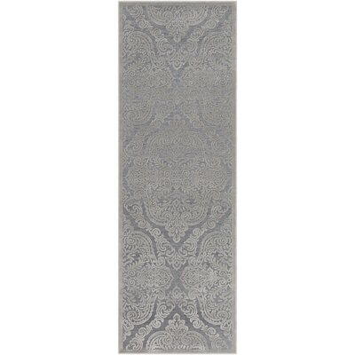 Quimir Transitional Silver/Dark Gray Area Rug Rug Size: Runner 27 x 76