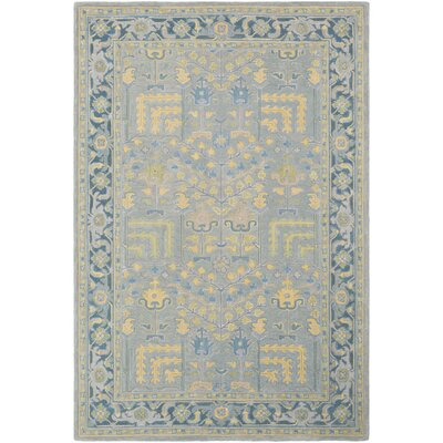 Edgerly Hand Tufted Wool Teal/Khaki Area Rug Rug Size: Rectangle 8 x 10