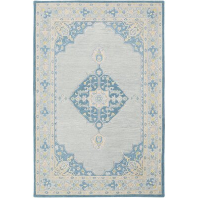 Edgerly Hand Tufted Wool Blue/Khaki Area Rug Rug Size: Rectangle 2 x 3