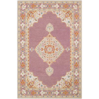 Edgerly Hand Tufted Wool Mauve Area Rug Rug Size: Rectangle 5 x 76