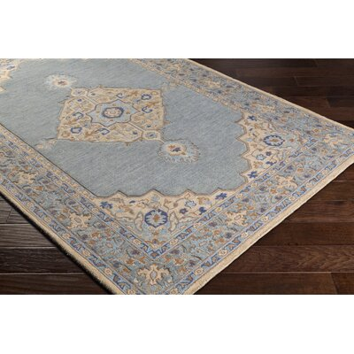 Edgerly Hand Tufted Wool Khak/Gray Area Rug Rug Size: Rectangle 5 x 76