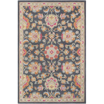 Edgerly Hand Tufted Wool Charcoal Area Rug Rug Size: Rectangle 8 x 10