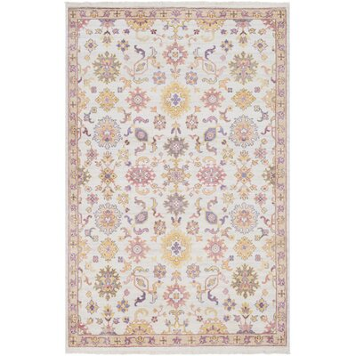 Casco Floral Hand Knotted Camel/Beige Area Rug Rug Size: Rectangle 2 x 3