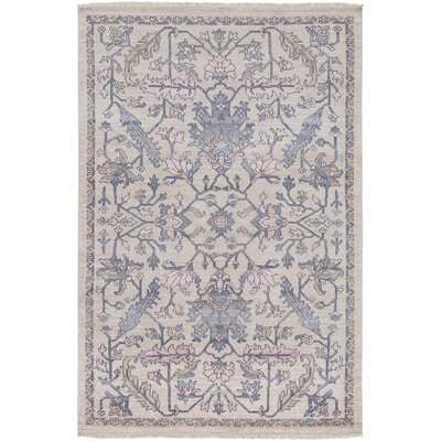 Casco Hand Knotted Charcoal/Khaki Area Rug Rug Size: Rectangle 6 x 9