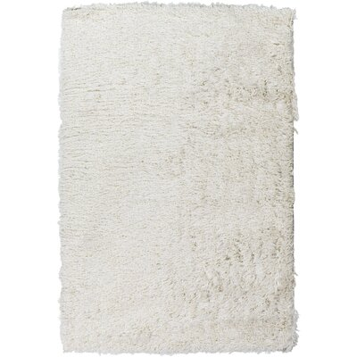 Mahesh White/Silver Area Rug Rug Size: Rectangle 8 x 10