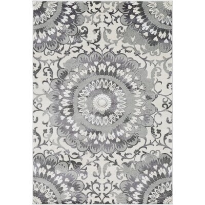 Holmstrom Gray Area Rug Rug Size: Rectangle 53 x 73