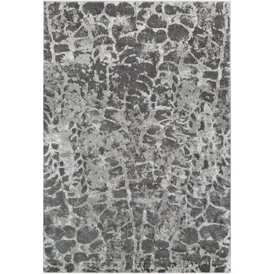 Annice Abstract Light Gray/Medium Gray Area Rug Rug Size: Rectangle 53 x 73