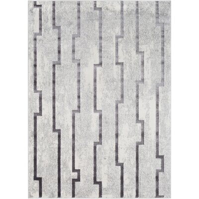 Salazar Transitional Gray Area Rug Rug Size: Rectangle 53 x 73
