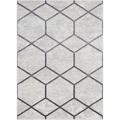 Salazar Transitional Gray Area Rug Rug Size: Rectangle 710 x 103