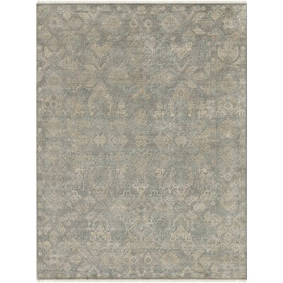 Gerhardine Hand Knotted Sage/Light Gray Area Rug Rug Size: 10 x 14