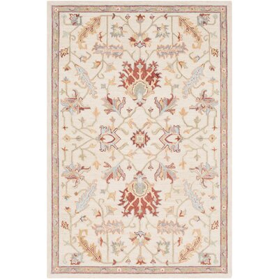 Rimrock Traditional Floral Hand Hooked Wool Khaki Area Rug Rug Size: Rectangle 8 x 10