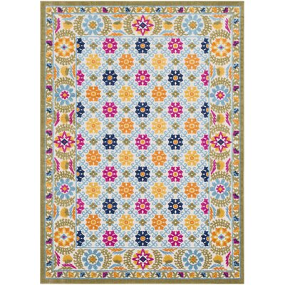 Avonmore Global Floral Olive/Brown Outdoor Area Rug Rug Size: Rectangle 53 x 73
