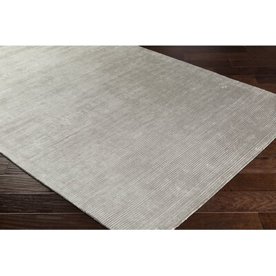 Aurora Hand Woven Medium Gray Area Rug Rug Size: Rectangle 8 x 10