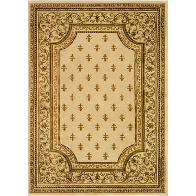 Arledge Classic Khaki/Tan Area Rug Rug Size: Rectangle 93 x 126