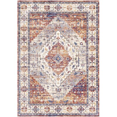 Richmond West Brown/Ivory Area Rug Rug Size: Rectangle 96 x 136
