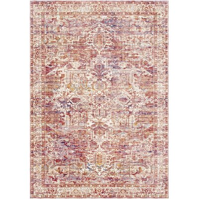 Richmond West Burnt Brown/Cream Area Rug Rug Size: Rectangle 96 x 136
