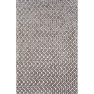 Tudor Hand Woven Medium Gray Area Rug Rug Size: Rectangle 5 x 76