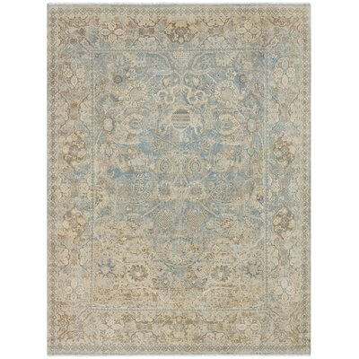 Riverhead Hand Knotted Wool Beige Area Rug Rug Size: Rectangle 6' x 9'