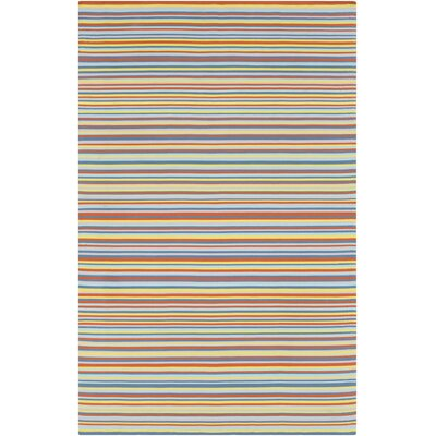 Bybrook Modern Hand Woven Orange/Blue Area Rug Rug Size: 5 x 76