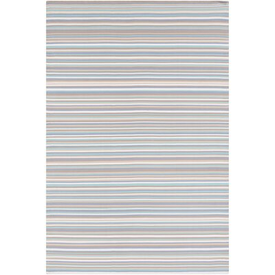 Bybrook Hand Woven White/Gray Area Rug Rug Size: 2 x 3