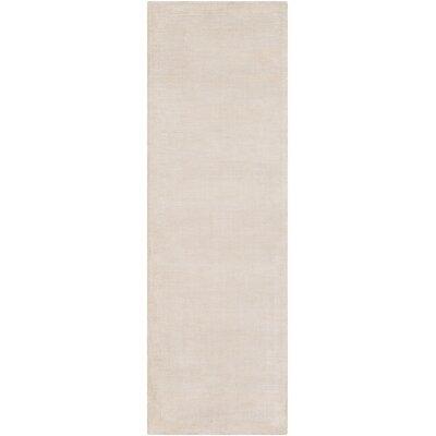 Susanna Hand Woven Khaki Area Rug Rug Size: Runner 26 x 8