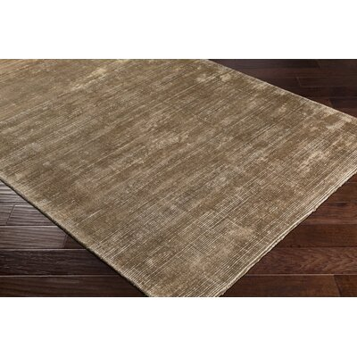 Susanna Solids and Tonals Hand Woven Dark Brown Area Rug Rug Size: Rectangle 8 x 10