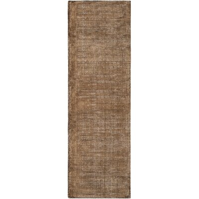 Susanna Solids and Tonals Hand Woven Dark Brown Area Rug Rug Size: Runner 26 x 8