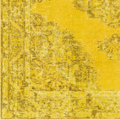 Ryhill Lime/Yellow Area Rug Rug Size: Rectangle 53 x 73