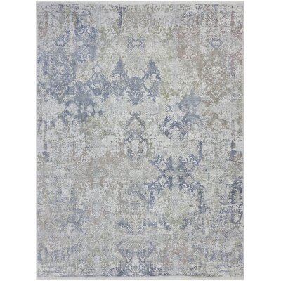 Gerlach Overdyed Hand Knotted Wool Denim/Gray Area Rug Rug Size: 10 x 14