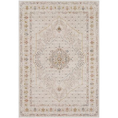 Holmes Vintage Beige Area Rug Rug Size: Rectangle 53 x 76