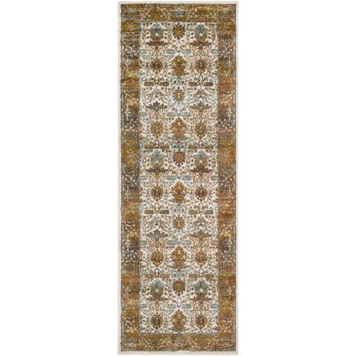 Rittman Camel/Brown Area Rug Rug Size: Runner 27 x 76