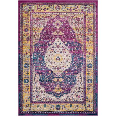 Kay Magenta Area Rug Rug Size: Rectangle 53 x 76