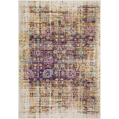 Kay Distressed Purple/Brown Area Rug Rug Size: Rectangle 710 x 103