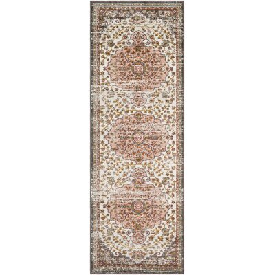 Kay Light Pink/Camel Area Rug Rug Size: Runner 27 x 76
