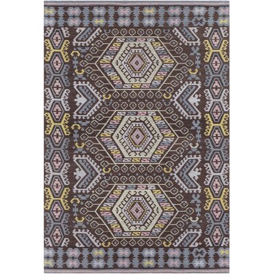 Sturbridge Hand Woven Sky Blue/Black Outdoor Area Rug Rug Size: Rectangle 8 x 10