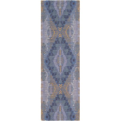 Sturbridge Hand-Woven Aqua Outdoor Area Rug Rug Size: Runner 26 x 8